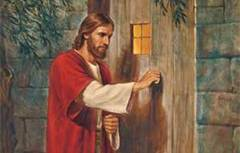 christ knocking on door