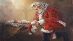 Santa and the Christchild